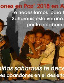 Los Comercios Asociados Colaboran con la Asociación ayuda del Sáhara.