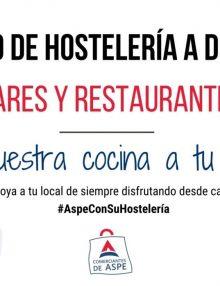 Hostelería de Aspe que ofrece servicio a domicilio