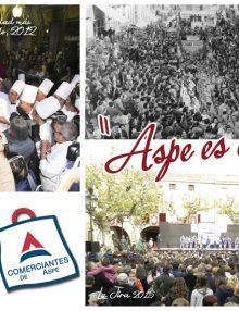 Correos y la Asociación de Comerciantes editan una postal con imágenes de Aspe