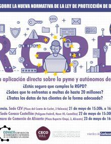 Jornadas sobre la nueva Ley de Protección de Datos (RGPD) para pymes y autónomos de COMERCIO.