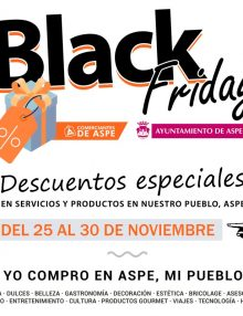 Semana Black Friday en nuestros comercios – Black Friday en Aspe