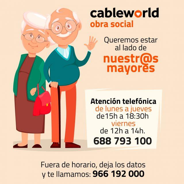 Servicio de atención psicosocial y acompañamiento telefónico – Cableworld