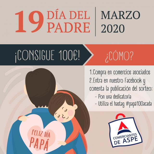 SE POSPONE el sorteo por el día del Padre – Consigue 100€ para gastar en Aspe