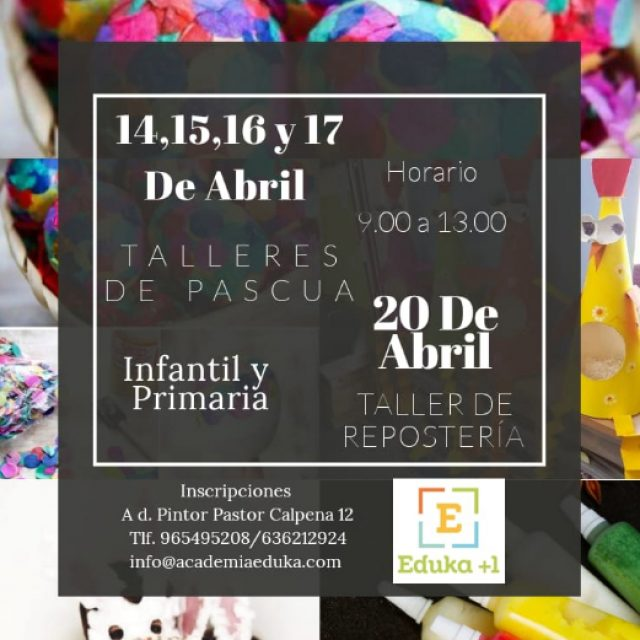 TALLERES DE PASCUA – Eduka+1