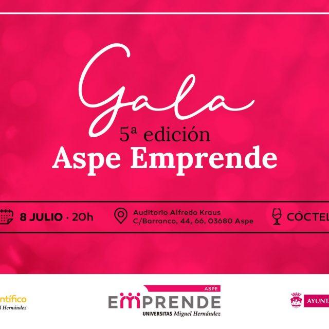 Gala 5ª edición de Aspe Emprende-8 de julio