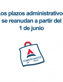 Los plazos administrativos se reanudan a partir del 1 de junio