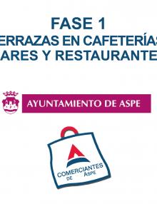 Fase 1 – Terrazas en bares, cafeterías y restaurantes de Aspe