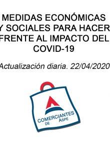 Medidas económicas y sociales para hacer frente al impacto del COVID-19. Actualizado 22/04/2020