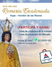 Únete a la Romería Escalonada de la Virgen de las Nieves