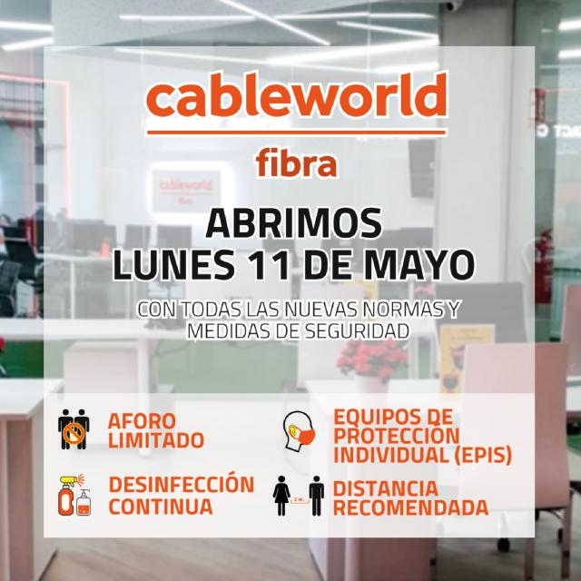 Cableworld reabre sus oficinas